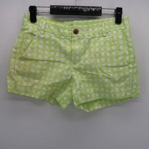 Khakis by GAP Plaid Sunkissed Shorts Size 00
